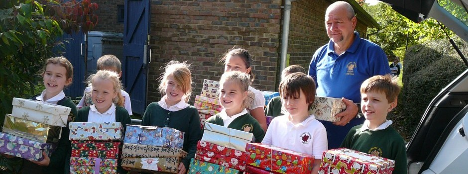 Christmas Shoe Boxes for the Rotary Club Scheme November 2013
