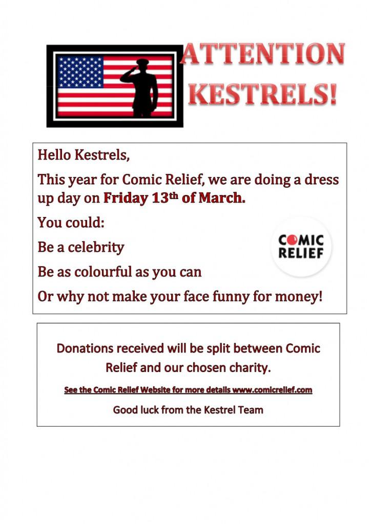Comic Relief Kestrals
