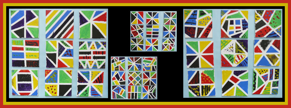 Year 2 Abstract Art Using Acrylic Paint and Canvas July 2015