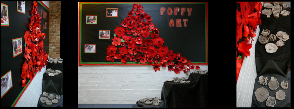 Poppy Art Display Year 5 December 2015