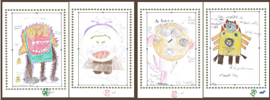 Year 4 French Monsters Autumn 2015